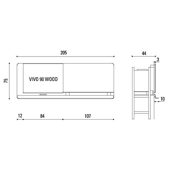 MCZ Scenario - VIVO 90 wood TV